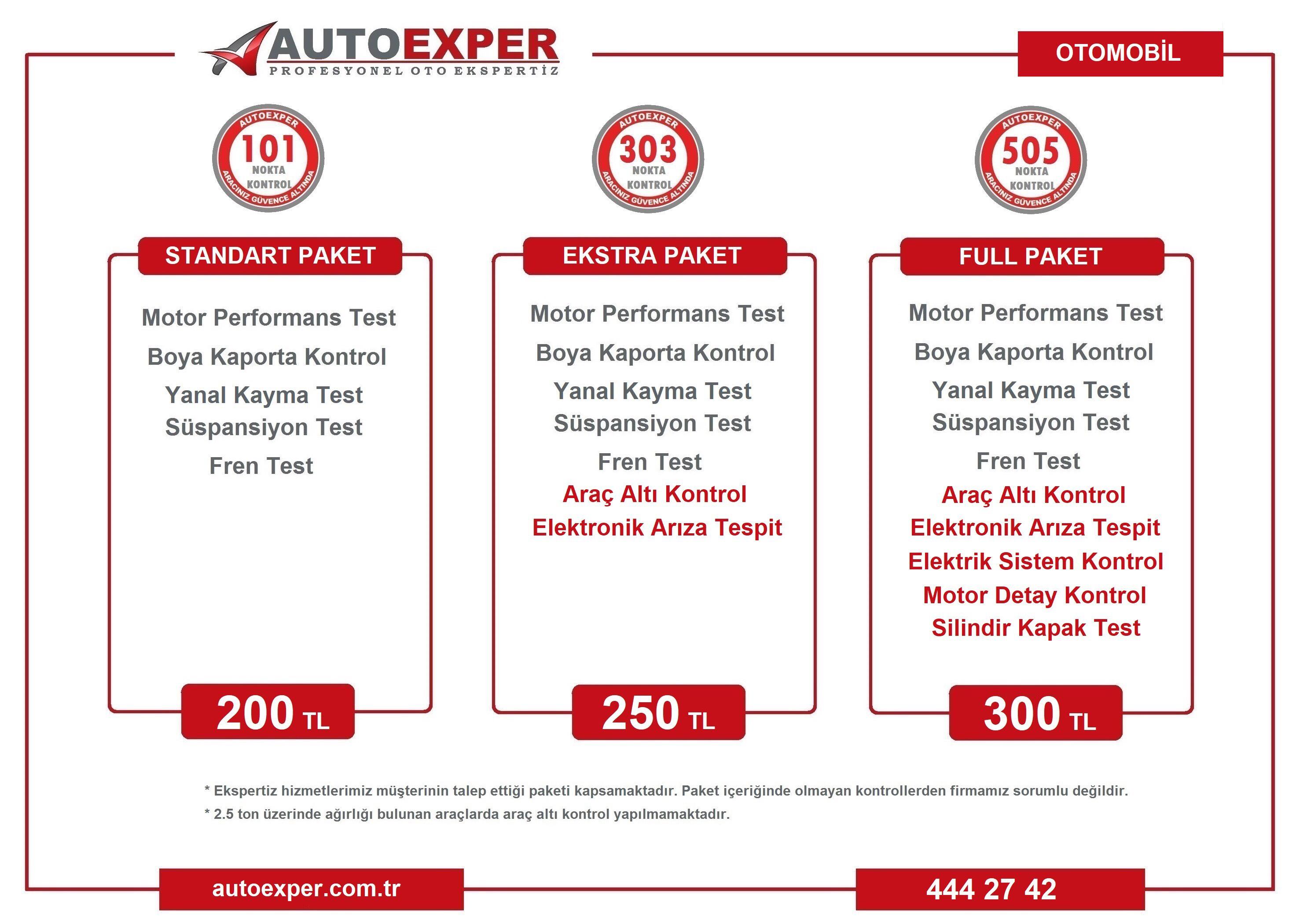 Otomobil Ekspertiz Fiyatları